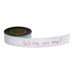 """Zeus Magnetic Labeling Tape - 16.67 yd Length x 2"""" Width - 1 / Roll - White"""