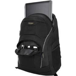 """Targus TSB194US Carrying Case (Backpack) for 16"""" Notebook - Black, Gray - Water Proof - Poly Oxford - 18.9"""" Height x 13"""" Width x 7.1"""" Depth"""
