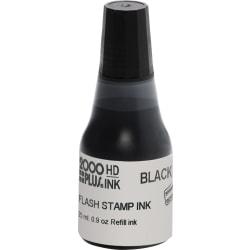 Pre-inked Stamp Re-Inking Fluid, 10 cc, Black
