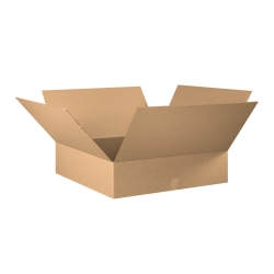 "Office Depot® Brand Corrugated Boxes, 12""H x 32""W x 32""D, 15% Recycled, Kraft, Bundle Of 10"