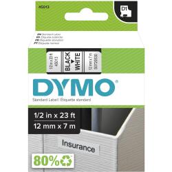 """DYMO® D1 45013 Black-On-White Tape, 0.5"""" x 23'"""