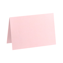"""LUX Folded Cards, A6, 4 5/8"""" x 6 1/4"""", Candy Pink, Pack Of 50"""