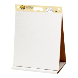 "Post-it® Super Sticky Tabletop Easel Pad, 20"" x 23"", White, Pad Of 20 Sheets"