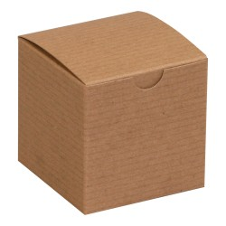 """Office Depot® Brand Gift Boxes, 3""""L x 3""""W x 3""""H, 100% Recycled, Kraft, Case Of 100"""