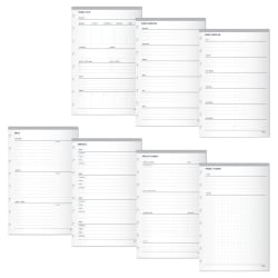 """TUL™ Limited Edition Custom Note-Taking System Discbound Organization Inserts, Junior Size (5-1/2"""" x 8-1/2""""), White, Pack Of 50 Inserts"""