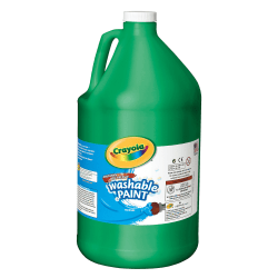 Crayola® Washable Paint, Green, Gallon