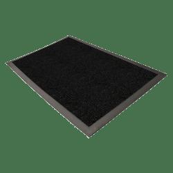 Genuine Joe Ultraguard Indoor Wiper/Scraper Floor Mat, 3' x 5', Charcoal Black