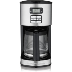 Hamilton Beach 12 Cup Programmable Coffeemaker (49618) - Programmable - 12 Cup(s) - Multi-serve - Coffee Strength Setting - Timer - Metallic - Stainless Steel, Plastic