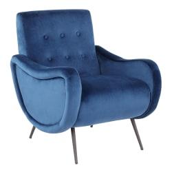LumiSource Rafael Lounge Chair, Black/Blue