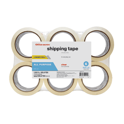 "Office Depot Brand® Brand Multipurpose Shipping Tape, 1-7/8"" x 109.4 Yd., Clear, Pack Of 6 Rolls"