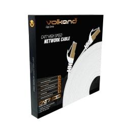 VolkanoX Giga Series Cat 7 High-Speed Gigabit Ethernet Cable, 82', White, VK-20067-WT