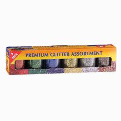 Hygloss Glitter Assortments, 0.75 Oz, Assorted Colors, 6 Packs Per Set, Pack Of 3 Sets