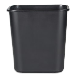 Rubbermaid® Durable Polyethylene Wastebasket, 7 Gallons, Black