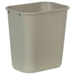 Rubbermaid® Durable Polyethylene Wastebasket, 7 Gallons (26.5L), Beige