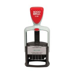 "Custom 2000 PLUS® 2-Color, Medium Duty Self-Inking Date Stamp, 360, 1-1/8"" x 1-11/16"" Impression"