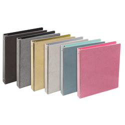 """Divoga® Glitter 3-Ring Binder, 1 1/2"""" Round Rings, Assorted Colors"""