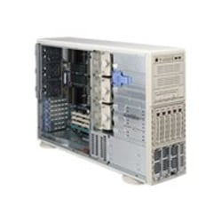 "Supermicro A+ Server AS4041M-82R - Server - tower - 4U - 4-way - no CPU - RAM 0 GB - SCSI - hot-swap 3.5"" bay(s) - no HDD - ATI ES1000 - GigE - monitor: none"