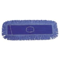 """Boardwalk® Dust Mop Head, 24"""" x 5"""", Blue"""