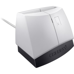 CHERRY ST-1144 Smart Card Reader - USB - White/Black - TAA Compliant - One Handed Operation