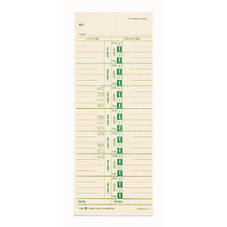 """TOPS® Time Cards (Replaces Original Card 10-800292), Numbered Days, 1-Sided, 9"""" x 3 1/2"""", Box Of 500"""
