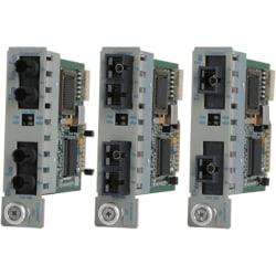 Omnitron Systems iConverter Transceiver - 2 x ST Ports - Single-mode - 100Base-FX - Internal