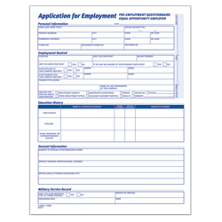 "Adams® Application For Employment, 8 1/2"" x 11"", Pack Of 25"