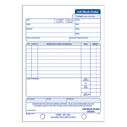 """Adams® Carbonless Job Work Order Book, 5 9/16"""" x 8 7/16"""", 3-Part, White/Canary/White Tag"""