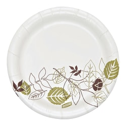 """Dixie® Heavyweight Paper Plates, 5 7/8"""", Floral Design, Carton Of 500"""