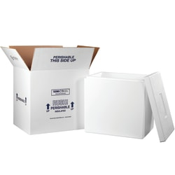 """Office Depot® Brand Insulated Shipping Kit, 19""""H x 14""""W x 18""""D, White"""