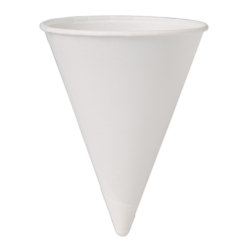 Solo® Paper Cone Water Cups, White, 4 Oz, Bag Of 200 Cups