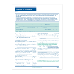 "ComplyRight 50-State-Compliant Long Form Job Applications, 11"" x 17"", Pack Of 50"