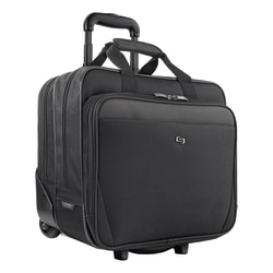 "Solo Classic Rolling Carrying Case For 17.3"" Laptops, Black"