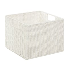 "Honey-Can-Do Paper Rope Storage Crate, 12 1/4"" x 13"" x 10"", White"