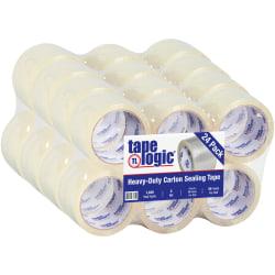 "Tape Logic™ #1000 Hot Melt Tape, 3"" x 55 Yd., Clear, Case Of 24"