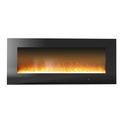 Cambridge Metropolitan CAM56WMEF-1BLK Electric Fireplace - Indoor - Wall Mountable
