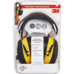 Tekk Protection Protection Digital WorkTunes Earmuffs - Stereo - Yellow, Black - Wired - Over-the-head - Binaural - Circumaural