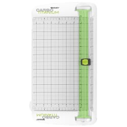 "Westcott® CarboTitanium Personal Paper Trimmer, 12"", White/Green"