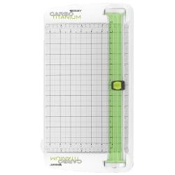 "Westcott® CarboTitanium Personal Paper Trimmer, 12"", White/Green"