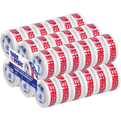 """Tape Logic® Pre-Printed Carton Sealing Tape, """"Keep Refrigerated"""", 2"""" x 110 Yd., Red/White, Case Of 36"""