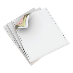 """Domtar Carbonless Continuous Forms, 3-Part, 9 1/2"""" x 11"""", White/Canary/Pink, Carton Of 1,200 Forms"""