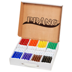 Prang® Classic Color Washable Art Markers, Master Pack, Assorted Colors, Pack Of 200