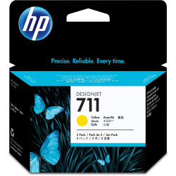 HP 711 Original Yellow Ink Cartridge, Pack Of 3