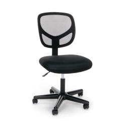 OFM Essentials Mid-Back Chair, Mesh, Black