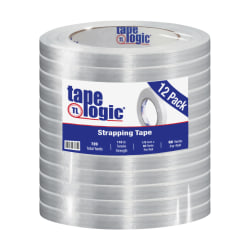 """Tape Logic® 1300 Strapping Tape, 1/2"""" x 60 Yd., Clear, Case Of 12"""