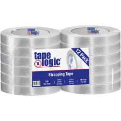 "Tape Logic® 1300 Strapping Tape, 1"" x 60 Yd., Clear, Case Of 12"