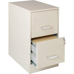 """Lorell® SOHO 22""""D Vertical 2-Drawer File Cabinet, Stone"""