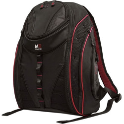 """Mobile Edge Express MEBPE72 Carrying Case (Backpack) for 16"""" to 17"""" MacBook - Black, Red - Ballistic Nylon - Shoulder Strap - 20"""" Height x 16"""" Width x 8.5"""" Depth"""
