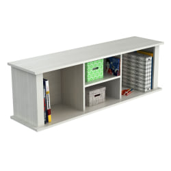 Inval Wall Mounted Laminate Hutch, Laricina-White