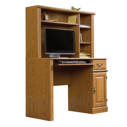 "Sauder® Orchard Hills Computer Desk With Hutch, 42 5/8"" W, Carolina Oak"