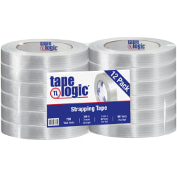"Tape Logic® 1500 Strapping Tape, 1"" x 60 Yd., Clear, Case Of 12"